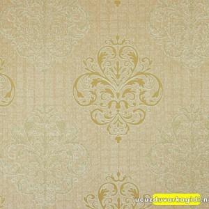 Damask Desen Altın Duvar Kağıdı