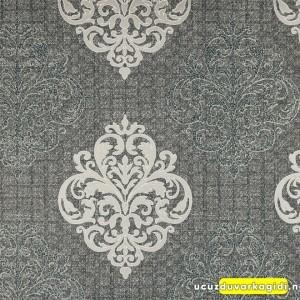 Damask Desenli Siyah Duvar Kağıdı