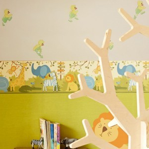 Çocuk Odası Ördekli Duvar Kağıdı