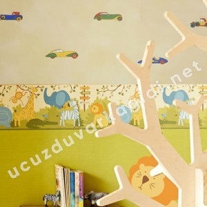 Çocuk Odası Arabalı Duvar Kağıdı
