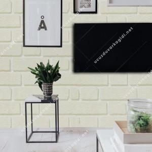 taş desenli duvar kağıdı krem