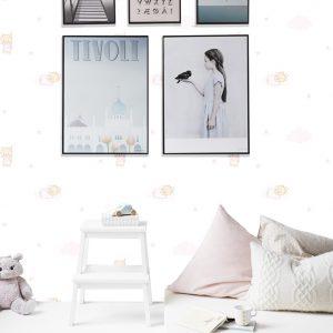 pembe bebek odası duvar kağıdı